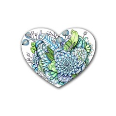 Peaceful Flower Garden 2 Drink Coasters (heart) by Zandiepants