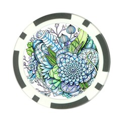 Peaceful Flower Garden 2 Poker Chip by Zandiepants