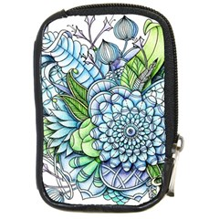 Peaceful Flower Garden 2 Compact Camera Leather Case by Zandiepants
