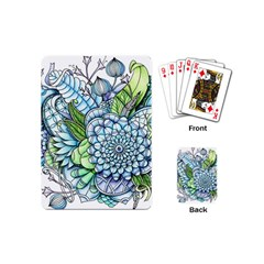 Peaceful Flower Garden 2 Playing Cards (mini) by Zandiepants