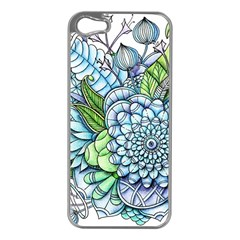 Peaceful Flower Garden 2 Apple Iphone 5 Case (silver) by Zandiepants