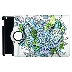 Peaceful Flower Garden 2 Apple Ipad 2 Flip 360 Case by Zandiepants