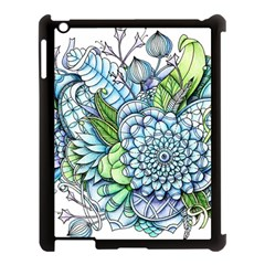 Peaceful Flower Garden 2 Apple Ipad 3/4 Case (black) by Zandiepants