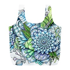 Peaceful Flower Garden 2 Reusable Bag (l) by Zandiepants