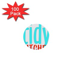 Tidy Bitcheslarge1 Fw 1  Mini Button (100 Pack) by tidybitches
