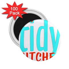 Tidy Bitcheslarge1 Fw 2 25  Button Magnet (100 Pack) by tidybitches