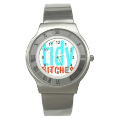 Tidy Bitcheslarge1 Fw Stainless Steel Watch (slim) by tidybitches
