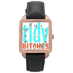 Tidy Bitcheslarge1 Fw Rose Gold Leather Watch  by tidybitches
