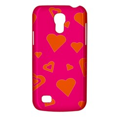 Hot Pink And Orange Hearts By Khoncepts Com Samsung Galaxy S4 Mini (gt I9190) Hardshell Case  by Khoncepts