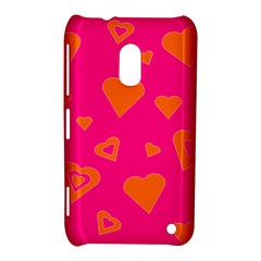 Hot Pink And Orange Hearts By Khoncepts Com Nokia Lumia 620 Hardshell Case by Khoncepts