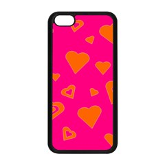 Hot Pink And Orange Hearts By Khoncepts Com Apple Iphone 5c Seamless Case (black)