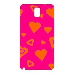 Hot Pink And Orange Hearts By Khoncepts Com Samsung Galaxy Note 3 N9005 Hardshell Back Case by Khoncepts