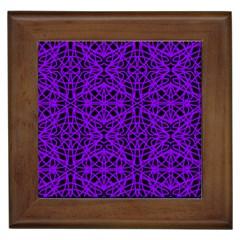 Black And Purple String Art Framed Tile by Khoncepts