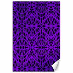 Black And Purple String Art Canvas 20  X 30  by Khoncepts
