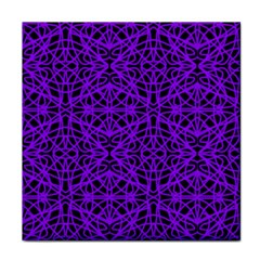 Black And Purple String Art Face Towel by Khoncepts