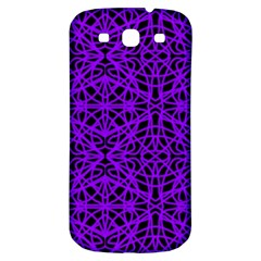 Black And Purple String Art Samsung Galaxy S3 S Iii Classic Hardshell Back Case by Khoncepts