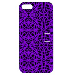 Black and Purple String Art Apple iPhone 5 Hardshell Case with Stand by Khoncepts