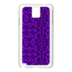 Black And Purple String Art Samsung Galaxy Note 3 N9005 Case (white)