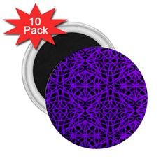 Black And Purple String Art 2 25  Magnet (10 Pack)