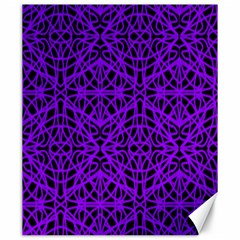 Black And Purple String Art Canvas 20  X 24  by Khoncepts