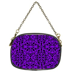 Black And Purple String Art Chain Purse (one Side) by Khoncepts