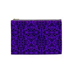 Black And Purple String Art Cosmetic Bag (medium) by Khoncepts