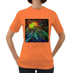 Exploding Fireworks Women s T Shirt (colored) by StuffOrSomething