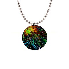 Exploding Fireworks Button Necklace by StuffOrSomething