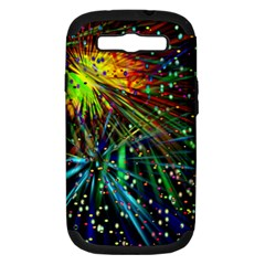 Exploding Fireworks Samsung Galaxy S Iii Hardshell Case (pc+silicone) by StuffOrSomething
