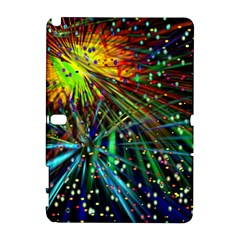 Exploding Fireworks Samsung Galaxy Note 10 1 (p600) Hardshell Case by StuffOrSomething