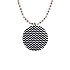 Black And White Zigzag Button Necklace by Zandiepants
