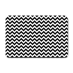 Black And White Zigzag Small Door Mat by Zandiepants