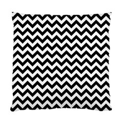 Black And White Zigzag Cushion Case (two Sided)  by Zandiepants