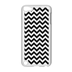 Black And White Zigzag Apple Ipod Touch 5 Case (white) by Zandiepants