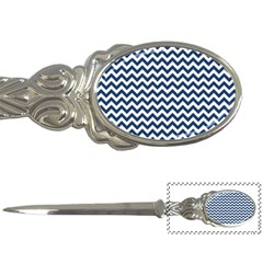 Dark Blue And White Zigzag Letter Opener by Zandiepants