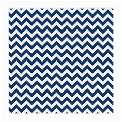Dark Blue And White Zigzag Glasses Cloth (medium) by Zandiepants