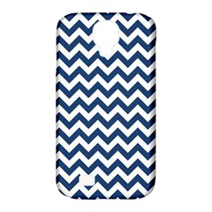 Dark Blue And White Zigzag Samsung Galaxy S4 Classic Hardshell Case (pc+silicone) by Zandiepants