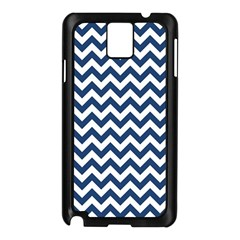 Dark Blue And White Zigzag Samsung Galaxy Note 3 N9005 Case (black) by Zandiepants