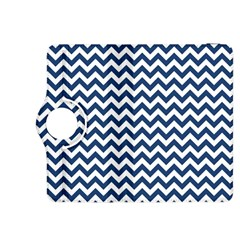 Dark Blue And White Zigzag Kindle Fire Hdx 8 9  Flip 360 Case by Zandiepants