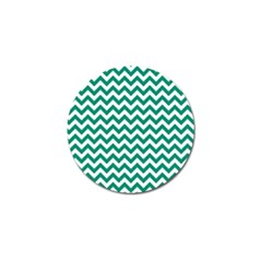 Emerald Green And White Zigzag Golf Ball Marker 10 Pack by Zandiepants