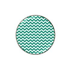 Emerald Green And White Zigzag Golf Ball Marker 10 Pack (for Hat Clip) by Zandiepants