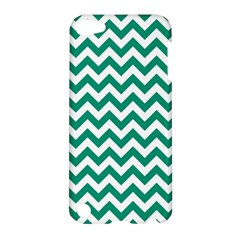 Emerald Green And White Zigzag Apple Ipod Touch 5 Hardshell Case by Zandiepants