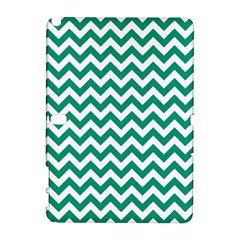 Emerald Green And White Zigzag Samsung Galaxy Note 10.1 (P600) Hardshell Case by Zandiepants