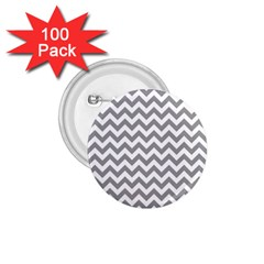 Grey And White Zigzag 1 75  Button (100 Pack) by Zandiepants