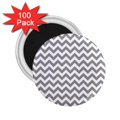 Grey And White Zigzag 2 25  Button Magnet (100 Pack) by Zandiepants