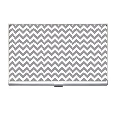 Grey And White Zigzag Business Card Holder by Zandiepants