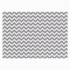 Grey And White Zigzag Glasses Cloth (large) by Zandiepants