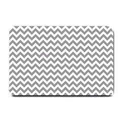 Grey And White Zigzag Small Door Mat by Zandiepants