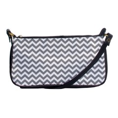 Grey And White Zigzag Evening Bag by Zandiepants
