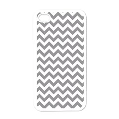 Grey And White Zigzag Apple Iphone 4 Case (white) by Zandiepants